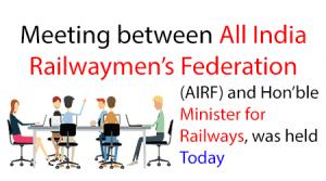 AIRF, Hon'ble Minister for Railways,