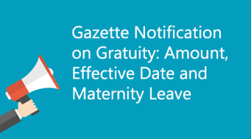 Gazette Notification on Gratuity