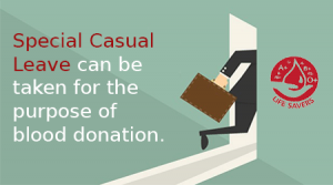 Special Casual Leave, Blood Donation